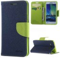 Style Cover Flip Cover For Samsung Galaxy A8 Cover MERCURY Fancy Leather Wallet Flip Stand Case (Green)