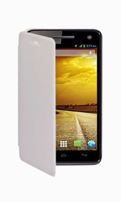 G4U Flip Cover for Xolo A800 SS White available at Flipkart for Rs.197