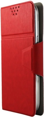 Molife Flip Cover for Spice Mobile Smart Flo Mettle 5X Red available at Flipkart for Rs.499