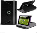 ColorKart Flip Cover For 7 Inch Tab IBall Slide 3G Q7271-IPS20 In 360 Degree Rotating Style Cover (Black)