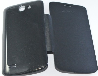Icod9 Flip Cover for Gionee Pioneer P3 Black available at Flipkart for Rs.199