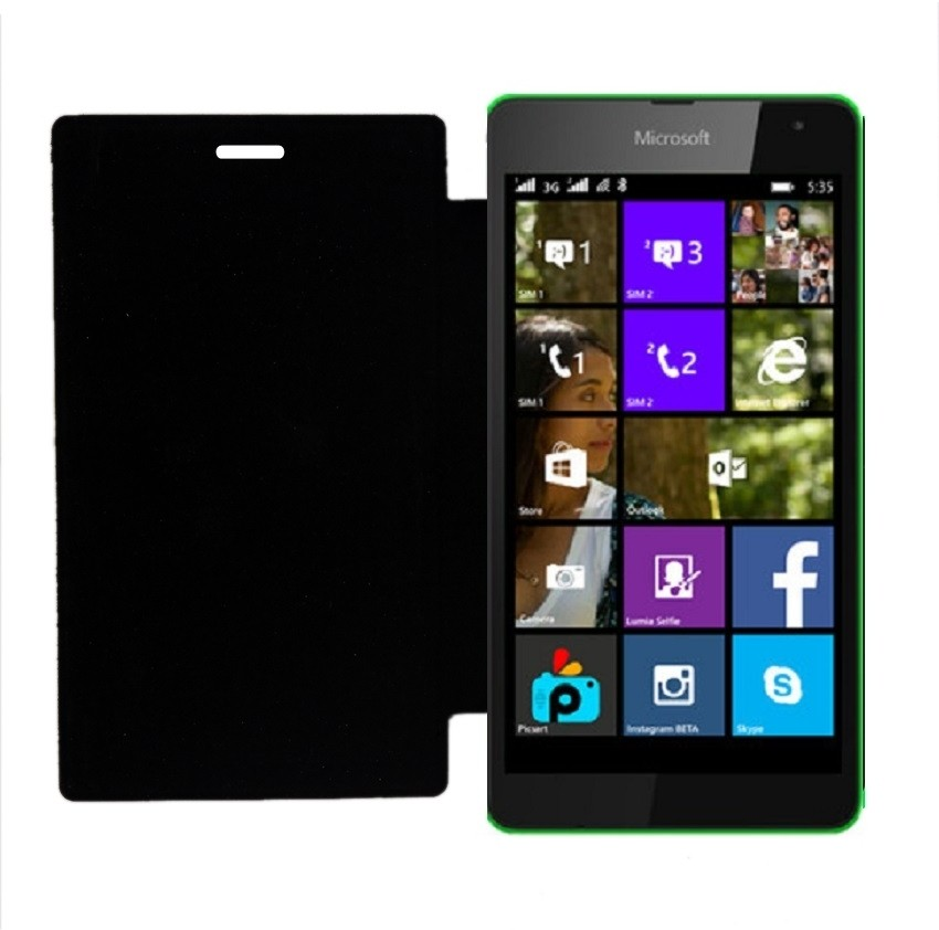 Book Cover Black Flipkart : Coverage flip cover for microsoft lumia