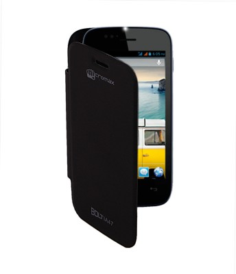 Coverage Flip Cover for Micromax Bolt A47 Black available at Flipkart for Rs.99