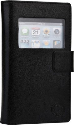 Jojo Flip Cover for Lenovo A390 Black available at Flipkart for Rs.690