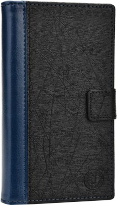 Jojo Flip Cover for Lenovo A390 Dark Blue, Black available at Flipkart for Rs.690