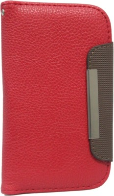 Jojo Flip Cover for Huawei Ascend G700 Red, Dark Brown available at Flipkart for Rs.590