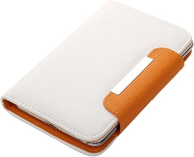 Jojo Flip Cover for Lenovo A390 White, Orange available at Flipkart for Rs.590