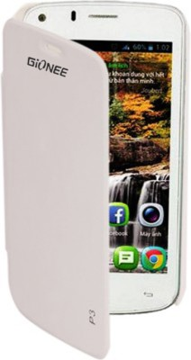 Skyy Flip Cover for Gionee Pioneer P3 White available at Flipkart for Rs.199