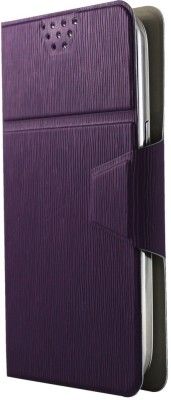 Molife Flip Cover for Spice Mobile Smart Flo Mettle 5X Purple available at Flipkart for Rs.499