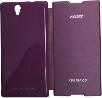 new arrivals e8087 33496 OSS Flip Cover for Sony Xperia C3 for Rs. 249 at Flipkart