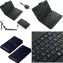 MBW Keyboard Case For Keyboard Book Cover Dairy For Swipe 3D Life Tab X74 3D (Matty Black)