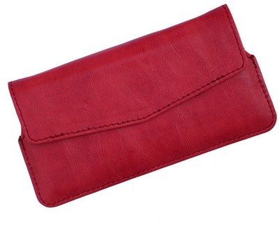 i-KitPit Pouch for Spice Coolpad 2 MI-496 Red