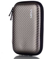 Gizga Pouch For GIZGA Branded 2.5 Inch Carbon Fiber Mesh Series - Color: Slate Grey; External Portable Hard Disk Drive Carry Cover Protector/ Pouch / Bag/HDD Case (Slate Grey)