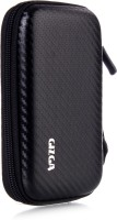 GIZGA Pouch For GIZGA Branded 2.5 Inch Carbon Fiber Mesh Series - Color: Black; External Portable Hard Disk Drive Carry Cover Protector/ Pouch / Bag/HDD Case (Black)