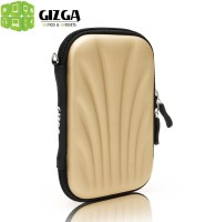 Gizga Pouch For GIZGA Branded 2.5 Inch SELF Tattoo SEMI HARD SHELL - Color: GOLD, External Portable Hard Disk Drive Carry Cover Protector/ Pouch / Bag/HDD Case (Gold)
