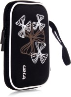 GIZGA Pouch For GIZGA Branded 2.5 Inch Wavy Graffiti Series - Color: Black; External Portable Hard Disk Drive Carry Cover Protector/ Pouch / Bag/HDD Case (Black)