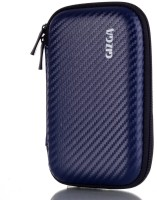 GIZGA Pouch For GIZGA Branded 2.5 Inch Carbon Fiber Mesh Series - Color: Navy Blue; External Portable Hard Disk Drive Carry Cover Protector/ Pouch / Bag/HDD Case (Navy Blue)