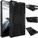 Chevron Shock Proof Case For Lenovo A6000 Plus (Space Black)