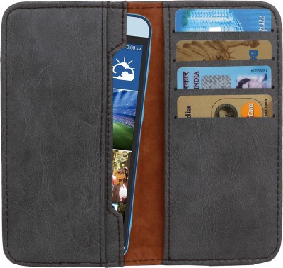 D.rD Wallet Case Cover for Videocon A45 Grey available at Flipkart for Rs.309