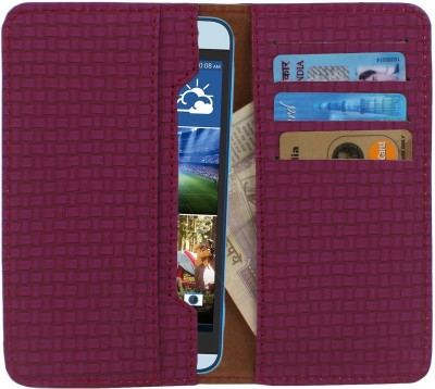 D.rD Wallet Case Cover for Videocon A45 Maroon available at Flipkart for Rs.309