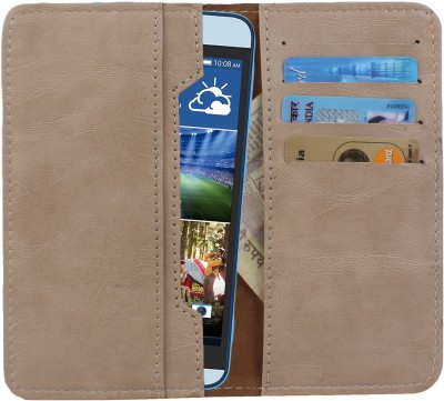 D.rD Wallet Case Cover for Videocon A45 Beige available at Flipkart for Rs.309