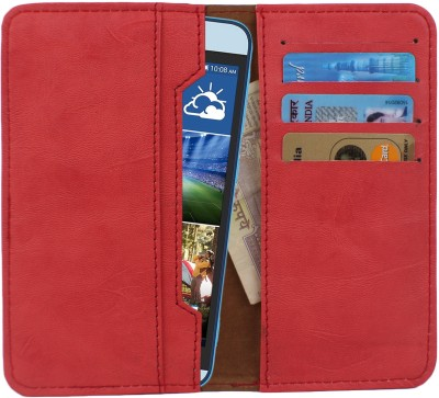 D.rD Wallet Case Cover for Videocon A45 Red available at Flipkart for Rs.309