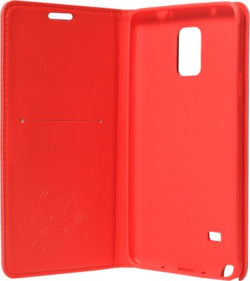 Samsung Lishen Wallet Case Cover For Samsung Galaxy Note 4 N910 (Red)