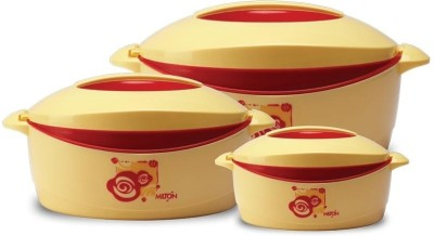 Milton Trumph Jr. Gift Set 500 ml, 850 ml, 1500 ml Casserole Set Yellow, Red, Pack of 3