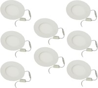 Galaxy Galaxy 6 Watt Led Panel Light Round,Cool White With 2 Years Warranty Set Of 8 Recessed Ceiling Lamp