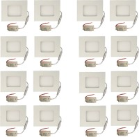 Galaxy Galaxy 3 Watt Led Panel Light Square,Cool White With 2 Years Warranty Set Of 16 Recessed Ceiling Lamp