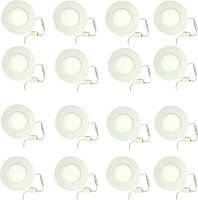 Galaxy 3 Watt Led Panel Light Round,Cool White With 2 Years Warranty Set Of 16 Recessed Ceiling Lamp