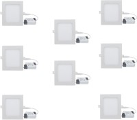 Galaxy 12 Watt Square Cool White Pack Of 2 Recessed Ceiling Lamp