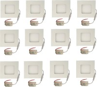 Galaxy Galaxy 3 Watt Led Panel Light Square,Cool White With 2 Years Warranty Set Of 12 Recessed Ceiling Lamp