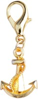 Crunchy Fashion Golden Spike Charming Alloy Beaded Dangling Charm