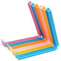 Vmore 6 Pcs Small Plastic Bag Clip Holder (Set Of 6, Multi)