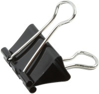 Pursho Combo Of 480 Medium Steel Binder Clips For Office Use (Set Of 1, Black)