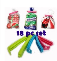 JLT Combo Series 2.4 Inch Small, 3 Inch Medium, 4 Inch Large Size Set Of 18 Plastic Food Seal (Set Of 18, Multicolor)