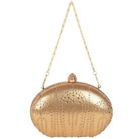 Reedra Festive Gold PU  Clutch