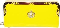 Charnalia Venom Girls, Women Casual, Festive, Formal, Party, Sports, Wedding Yellow PU  Clutch