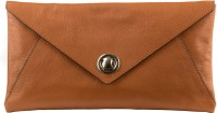 Klasse Genuine Leather Orange Envelope Women Casual Orange Genuine Leather Clutch