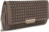 E2O Women Khaki Artificial Leather  Clutch