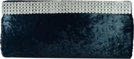 Arisha Kreation Co Women Casual Grey Velvet  Clutch