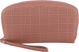 President Bags Women Casual Pink Polyester  Clutch