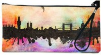 Snoogg London City Photos Black And White Wallet Pouch By Mark Ashkenazi  Clutch - Multicolor