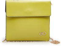 E2O Women Casual Green Faux Leather  Clutch