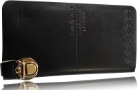 SN LOUIS Black LEATHER  Clutch