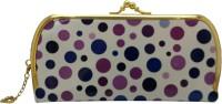 Fusion Clutches Casual, Party, Festive White, Purple Plastic  Clutch
