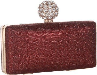 Get best deal for Alessia Women Casual Maroon Synthetic Clutch at Compare Hatke