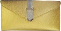 Shree Women Bag Women Party Gold PU  Clutch