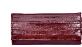 Five Fingers Formal Brown Geniune Leather  Clutch